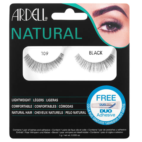 Ardell Fashion Lashes 109 Demi Black (with Glue)