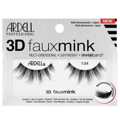Ardell 3D Faux Mink Lashes Black 134