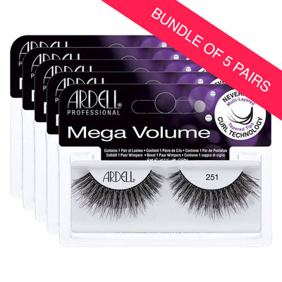 Ardell 3D Mega Volume Lashes 251 (BUNDLE OF 5 PAIRS)