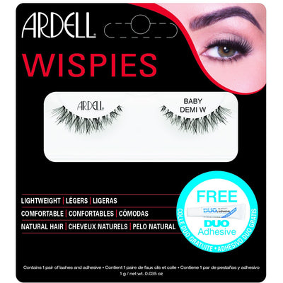 Ardell Baby Demi Wispies Lashes Black (with DUO Glue)