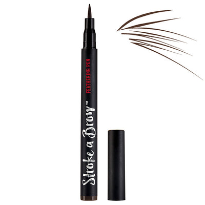 Ardell Beauty Stroke A Brow Feathering Pen - Dark Brown (1.2g) - With Swatch