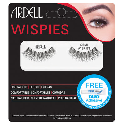 Ardell Demi Wispies Lashes Black (with DUO Glue)
