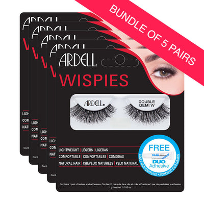 Ardell Double Demi Wispies Lashes (BUNDLE OF 5 PAIRS)