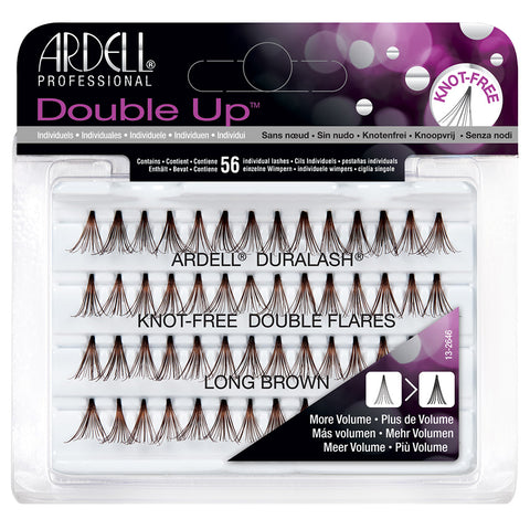 Ardell Duralash Double Up Individuals Knot Free - Long Brown