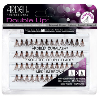 5311e7a48be Ardell Duralash Double Up Individuals Knot Free - Medium Brown | False  Eyelashes