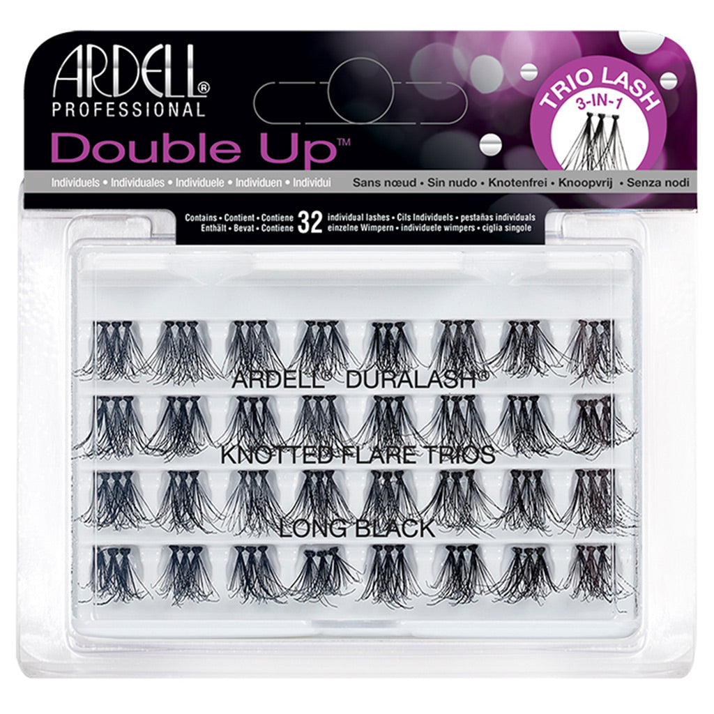 Ardell Duralash Double Up Knotted Flare Trios - Long Black