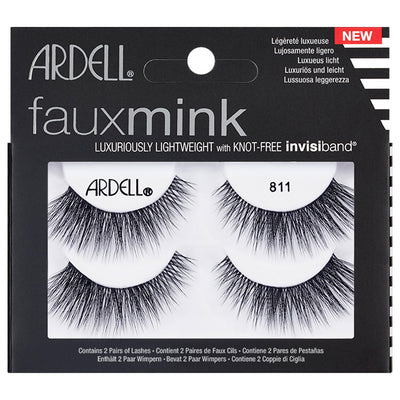 Ardell Faux Mink Lashes Black 811 Twin Pack