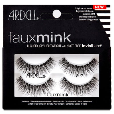 Ardell Faux Mink Lashes Black 817 Twin Pack