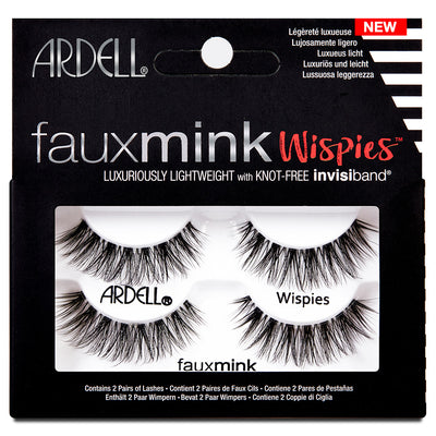 Ardell Faux Mink Lashes Black Wispies Twin Pack