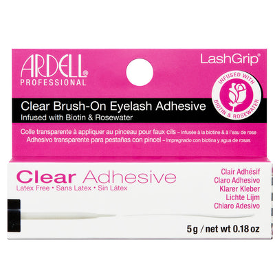 Ardell Lash Grip Clear Brush-on Lash Adhesive Infused with Biotin and Rosewater (5g)