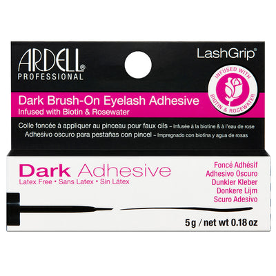 Ardell Lash Grip Dark Brush-on Lash Adhesive Infused with Biotin and Rosewater (5g)