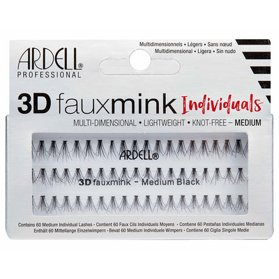 Ardell Lashes 3D Faux Mink Individuals - Medium Black