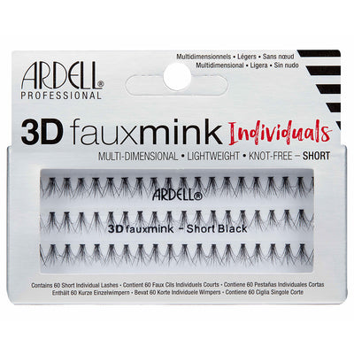 Ardell Lashes 3D Faux Mink Individuals - Short Black