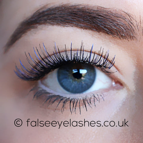 Ardell Color Impact Lashes 110 Blue (Model Shot 1)