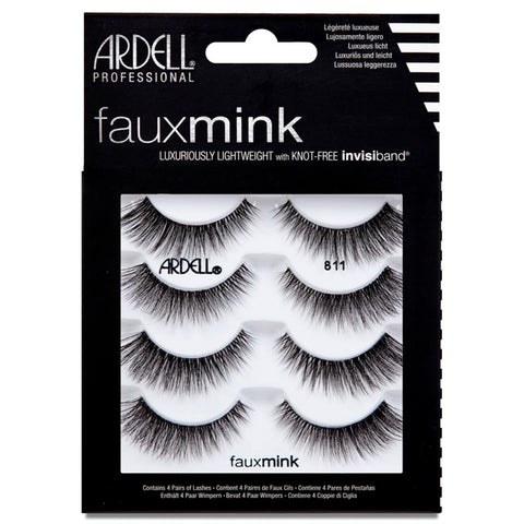 61754408771 Ardell Faux Mink Lashes Black 811 Multipack (4 Pairs)