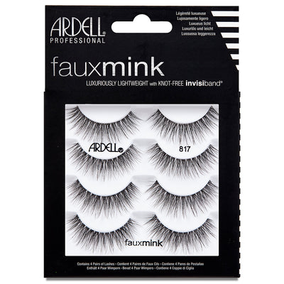 Ardell Faux Mink Lashes Black 817 Multipack (4 Pairs)