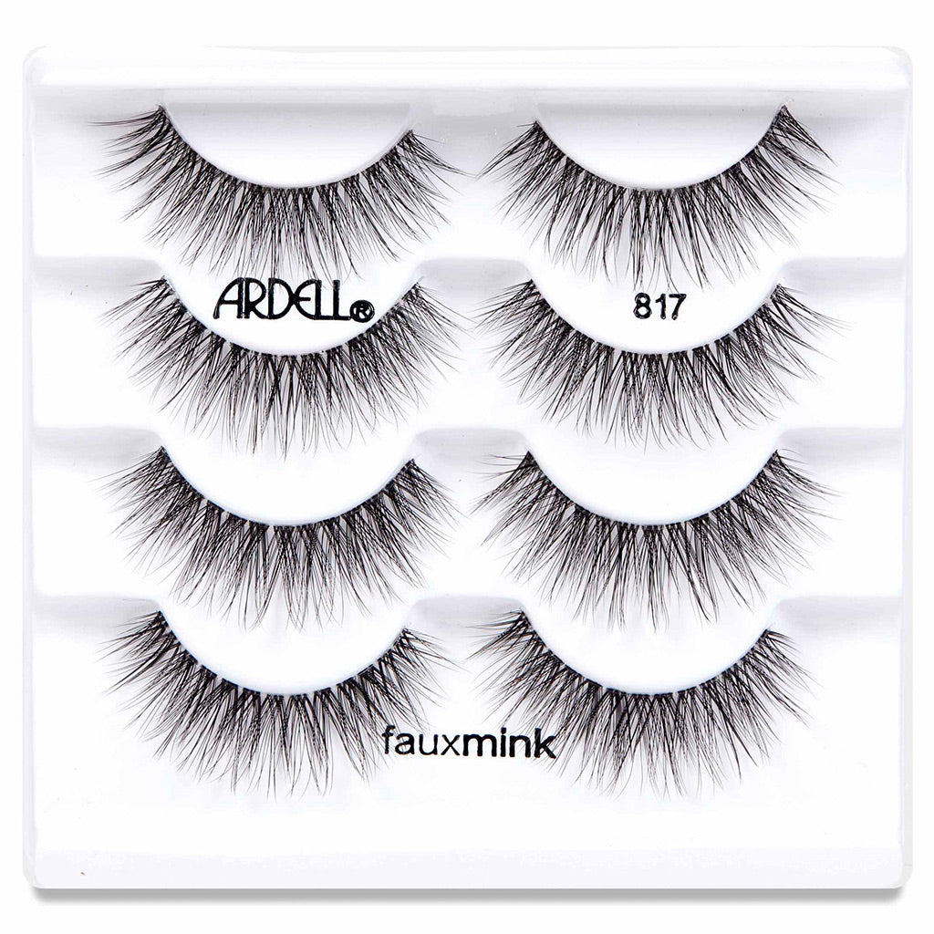 Ardell Faux Mink Lashes Black 817 Multipack (4 Pairs) - Tray Shot