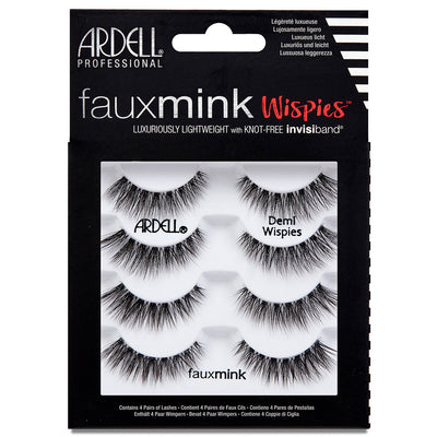 Ardell Faux Mink Lashes Black Demi Wispies Multipack (4 Pairs)