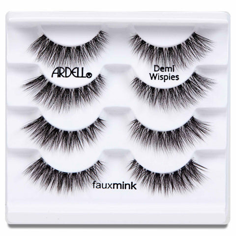 Ardell Faux Mink Lashes Black Demi Wispies Multipack (4 Pairs) - Tray Shot