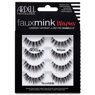 Ardell Faux Mink Lashes Black Wispies Multipack (4 Pairs)