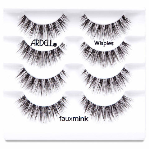 Ardell Faux Mink Lashes Black Wispies Multipack (4 Pairs) - Tray Shot