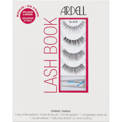 Ardell Lashes Lash Book (Contains 4 Pairs, Applicator and Adhesive) - 1