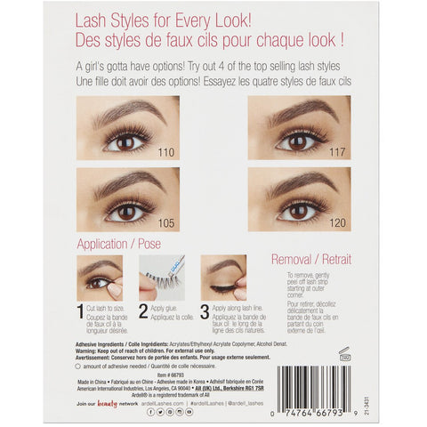 Ardell Lashes Lash Book (Contains 4 Pairs, Applicator and Adhesive) - 2