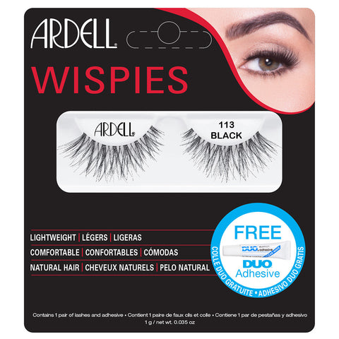 Ardell Wispies Lashes 113 (with DUO Glue)