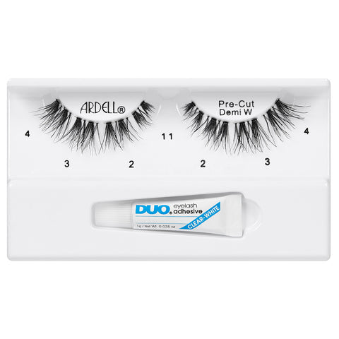 Ardell Pre-Cut Demi Wispies Lashes Black (with DUO Glue) - Tray Shot