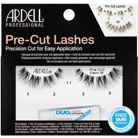 Ardell Pre-Cut Demi Wispies Lashes Black (with DUO Glue)