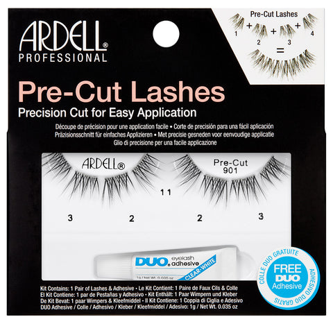 Ardell Pre-Cut Lashes Black (with DUO Glue) - #901