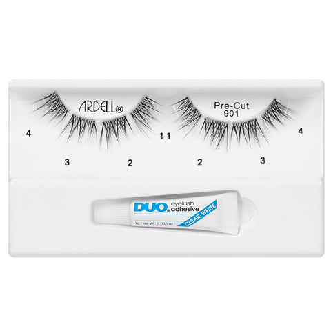 Ardell Pre-Cut Lashes Black (with DUO Glue) - #901 (Tray Shot)