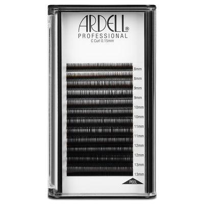 Ardell Professional C Curl Black Individual Lash Extensions 0.15, Assorted Length (8, 9, 10, 11, 12, 13mm)