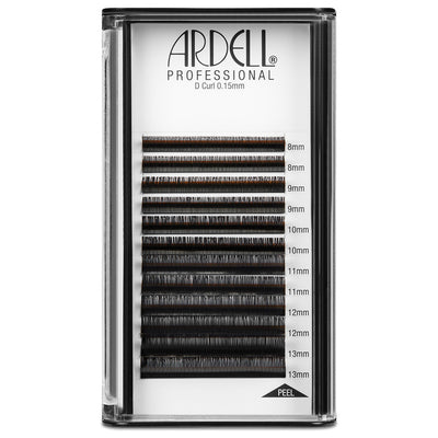 Ardell Professional D Curl Black Individual Lash Extensions 0.15, Assorted Length (8, 9, 10, 11, 12, 13mm)