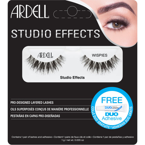 Ardell Studio Effects Wispies Lashes Black (with DUO Glue)