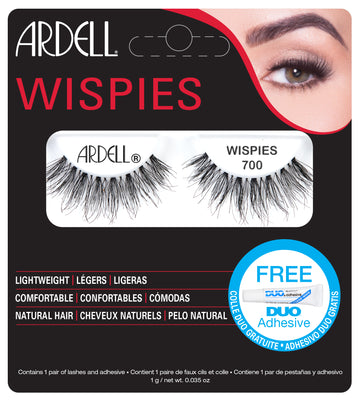 Ardell Wispies 700 Lashes Black (with DUO Glue)
