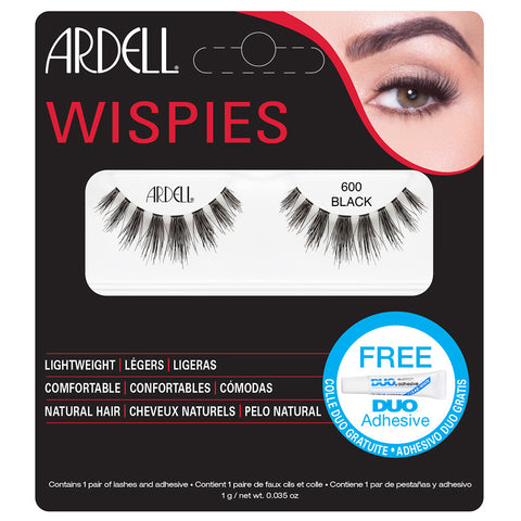 Ardell Wispies Cluster Lashes 600 Black (with DUO Glue)