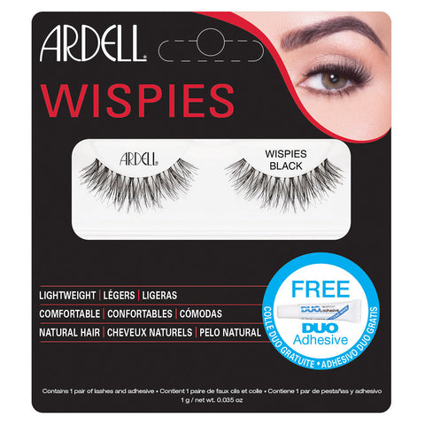 Ardell Wispies Lashes Black (with DUO Glue)