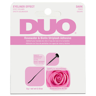 DUO Brush-on Rosewater & Biotin Strip Lash Adhesive Dark (5g)