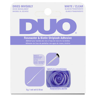 DUO Brush-on Rosewater & Biotin Strip Lash Adhesive White/Clear (5g)