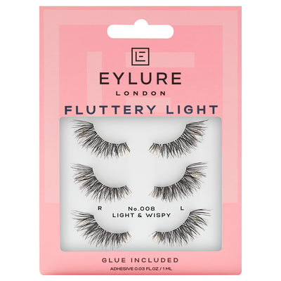 Eylure Fluttery Light Lashes 008 Multipack (3 Pairs)