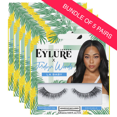 Eylure X Jordyn Woods False Lashes - LA Baby (BUNDLE OF 5 PAIRS)