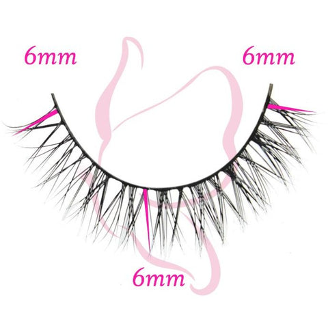 Flutter Lashes - Courtney (Lower Lashes) - Single Lash with Measurements