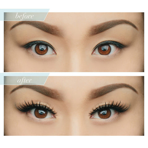 House of Lashes - Noir Fairy - Before & After 1