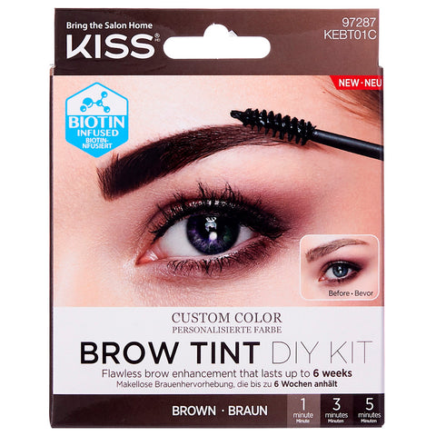 Kiss Brow Tint DIY Kit - Brown