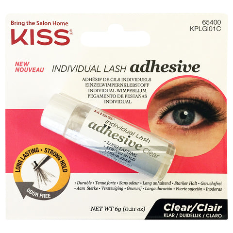 cfe210801b9 Kiss Individual Lash Adhesive Clear (6g) | False Eyelashes