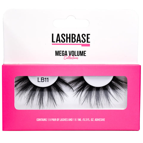 LashBase Mega Volume False Eyelashes - LB11