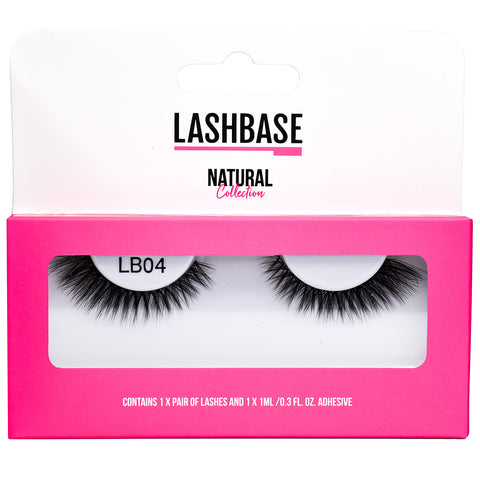 LashBase Natural False Eyelashes - LB04