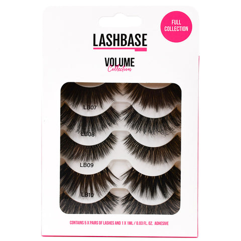 LashBase Volume Collection False Eyelashes (5 Pairs)