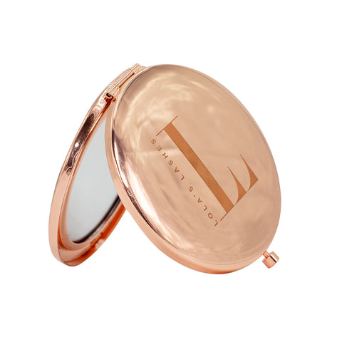 Lola's Lashes - Rose Gold Compact Mirror